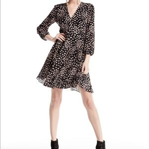 NWT Rebecca Taylor Aster Floral Long-Sleeve Dress